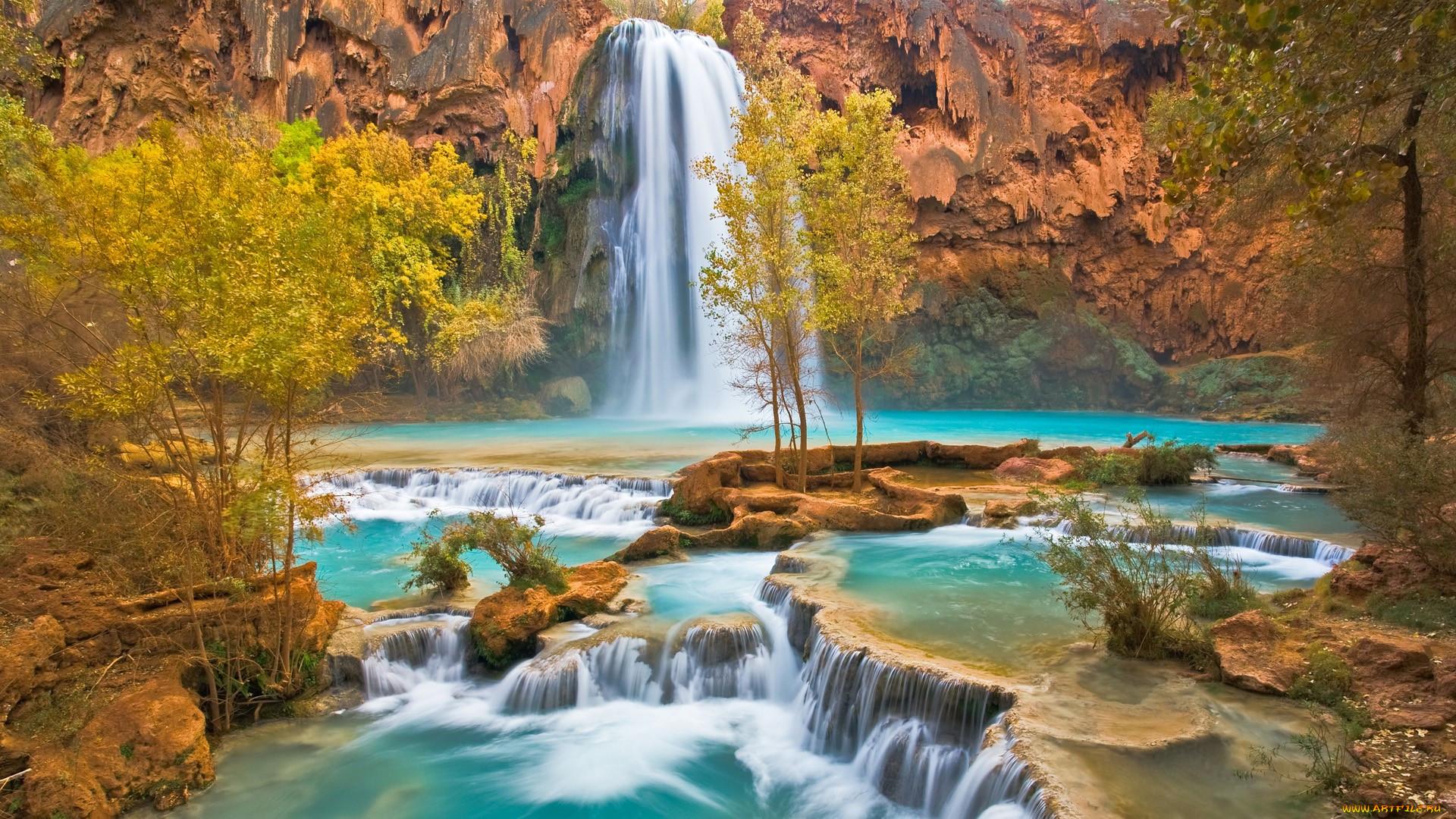 Картинки с водопадом и природой